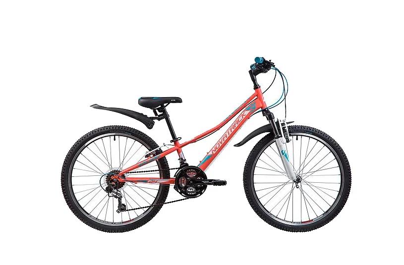 Подростковый горный (MTB) велосипед Novatrack Valiant 24 (2019) Коралловый (133985)