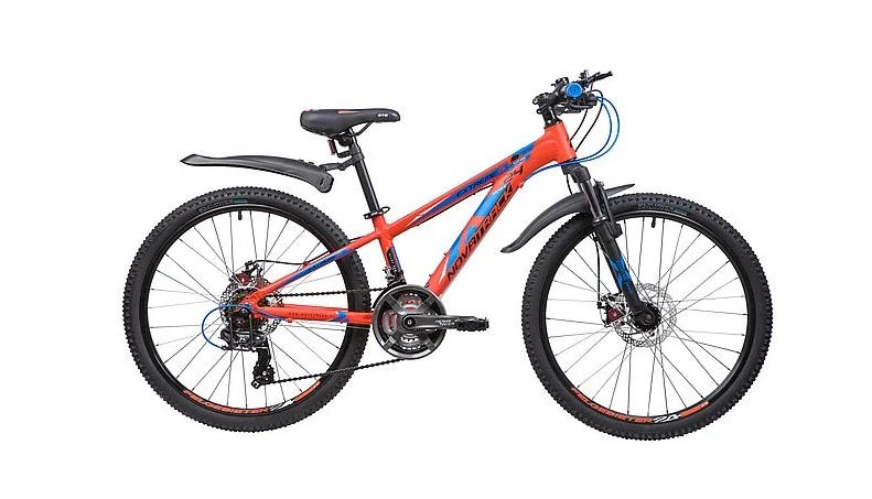 Подростковый горный (MTB) велосипед Novatrack Extreme 24 21 Disc (2019) Оранжевый (133998)