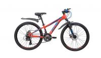 Подростковый горный (MTB) велосипед Novatrack Extreme 24 21 Disc (2019) Оранжевый (133997)