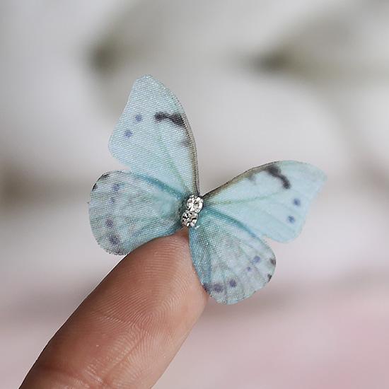 Аксессуар для кукол - бабочка голубая, 3 см