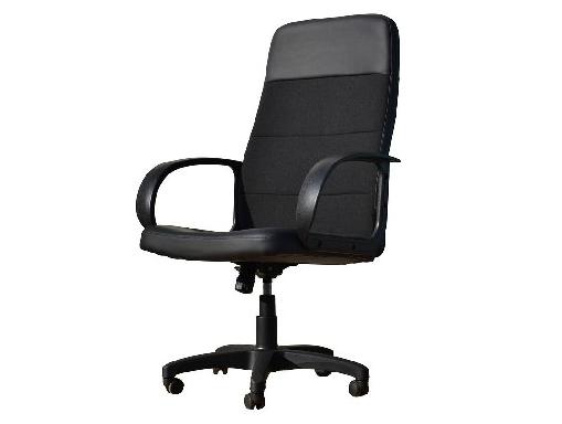Кресло OFFICE-LAB КР58 ЭКО1/С11 эко кожа черная/ ткань черная