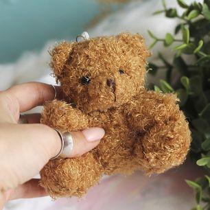 Мишка для куклы коричневый,  10 см