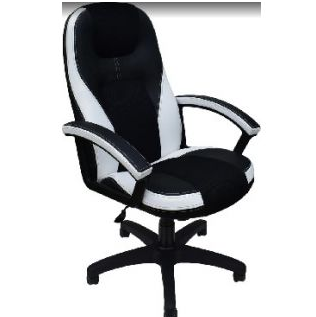 Компьютерное кресло OFFICE-LAB КР08 TW Черное/ белое