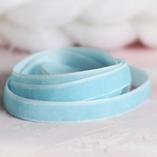 Лента бархатная  10 мм Голубая