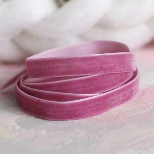 Лента бархатная 10 мм Розовая