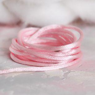 Шнурок атласный Розовый