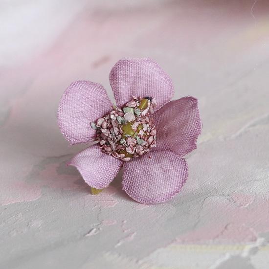 Цветок тканевый Ромашка розовая 2 см