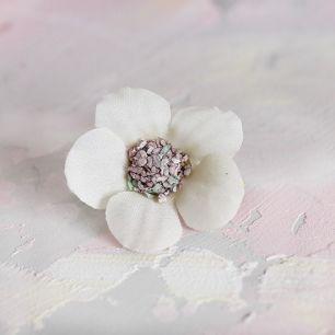 Цветок тканевый Ромашка молочная 2 см