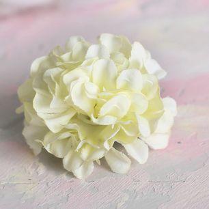Тканевый цветок Хризантема сливочная 4.5