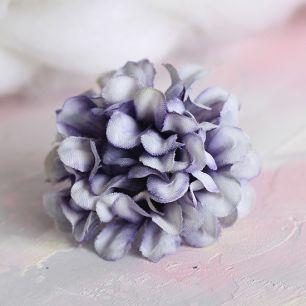 Тканевый цветок Хризантема сиреневая 4.5 см
