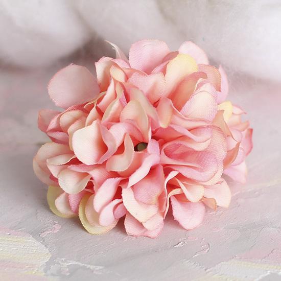 Тканевый цветок Хризантема розовая 4.5 см