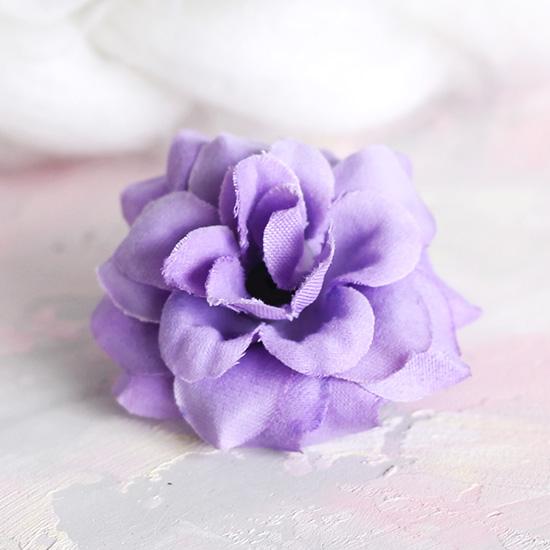 Цветок тканевый Розочка сиреневая 4.5 см