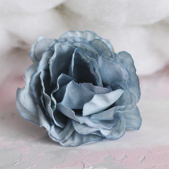 Цветок тканевый Роза голубая 5 см