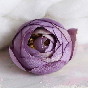 Цветок тканевый  Пион фиолетовый 4.5 см