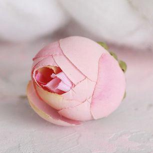 Цветок тканевый Лотос розовый 2.5 см