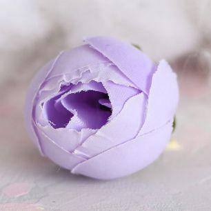 Цветок тканевый Лотос сиреневый 2.5 см