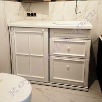 """Тумба для стиральной машины """"Руссильон PROVENCE-125 белая эмаль"""