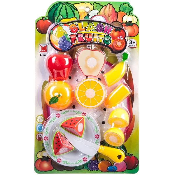 Набор игровой пласт. , режем фрукты на липучках, CRD 36x22x4 см, арт. 614A.