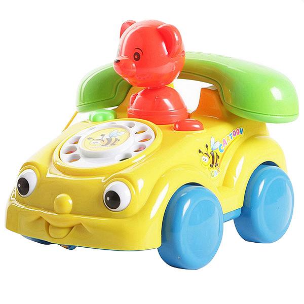 Игр. пласт. развив. Телефон с мишкой на колесах, РАС, арт. 769K