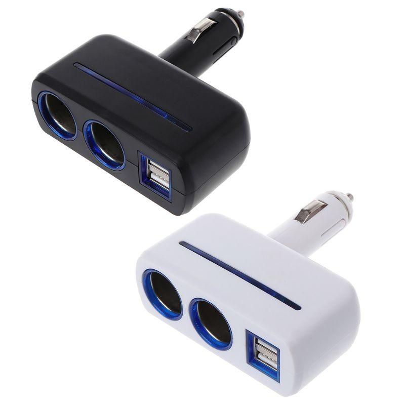 Авторазветвитель Прикуривателя На 2 Гнезда И 2 USB Olesson 1637