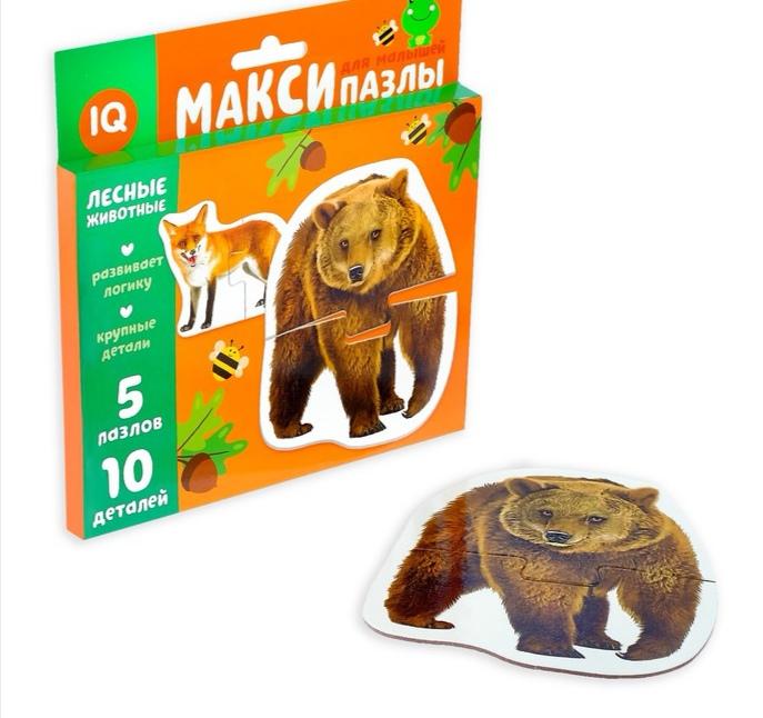 Макси-пазлы «Лесные животные» реалистичные