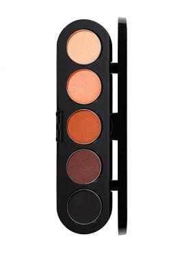 Make-Up Atelier Paris Palette Eyeshadows T02 Warm tones 2 Палитра теней для век №2 коричнево - теплые тона (теплые тона)