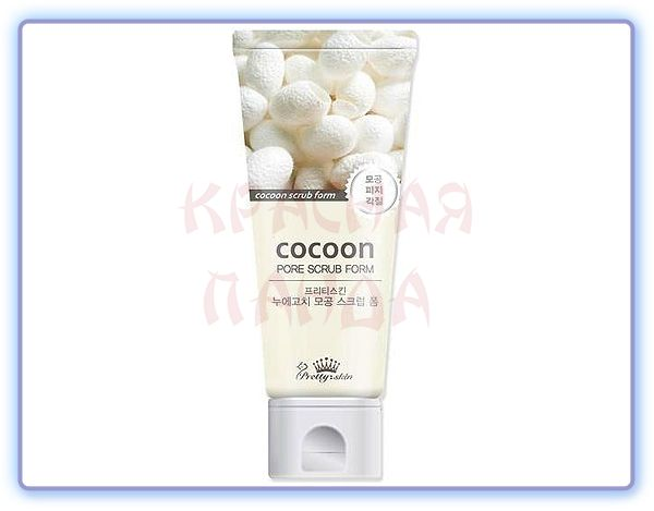 Скраб с экстрактом кокона шелкопряда Pretty Skin Cocoon Pore Scrub Foam