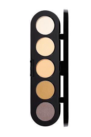 Make-Up Atelier Paris Palette Eyeshadows T04 Yellow tones Палитра теней для век №04 натуральные светлые тона (гамма для блондинок)