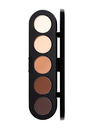 Make-Up Atelier Paris Palette Eyeshadows T22 Natural chestnut Палитра теней для век №22 натуральные коричневые тона