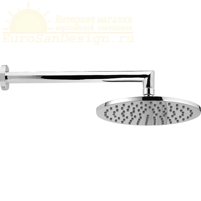 Верхний душ Cisal Shower D200 мм с настенным держателем L290 мм ФОТО