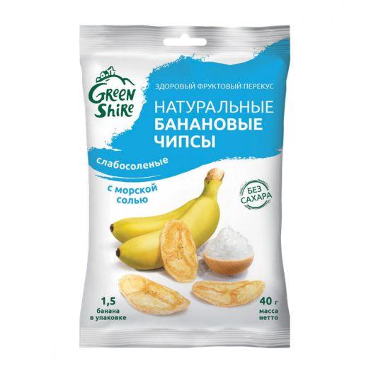 """Банановые чипсы """"Слабосоленые. С морской солью"""""""