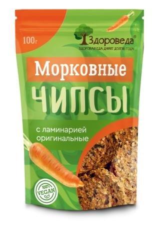 Морковные чипсы с ламинарией оригинальные, 100 г