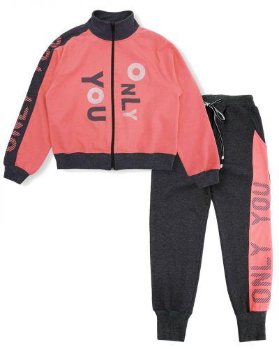 """Спортивный костюм для девочек 8-12 лет Bonito """"Only you"""" коралловый"""