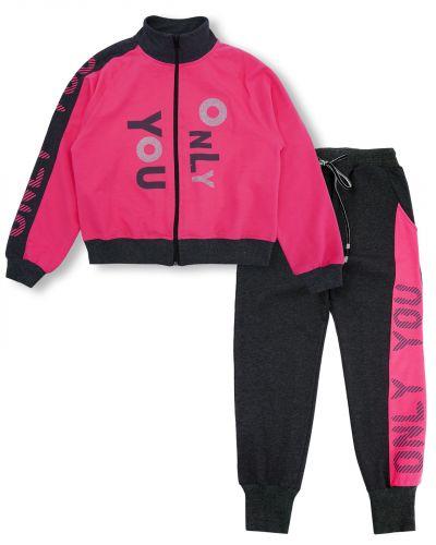 """Спортивный костюм для девочек 8-12 лет Bonito """"Only you"""" малиновый"""