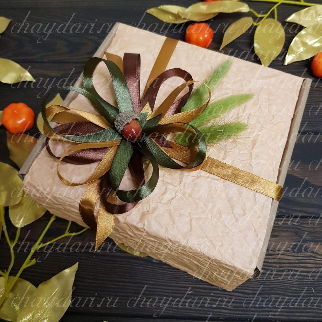 """Коробка с чаем и сладостями """"Осеннии лес"""""""