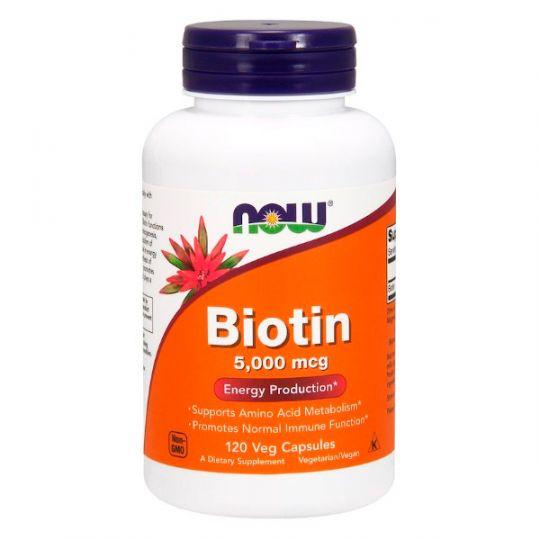 Биотин Now Foods 5000 мкг (120 капсул)