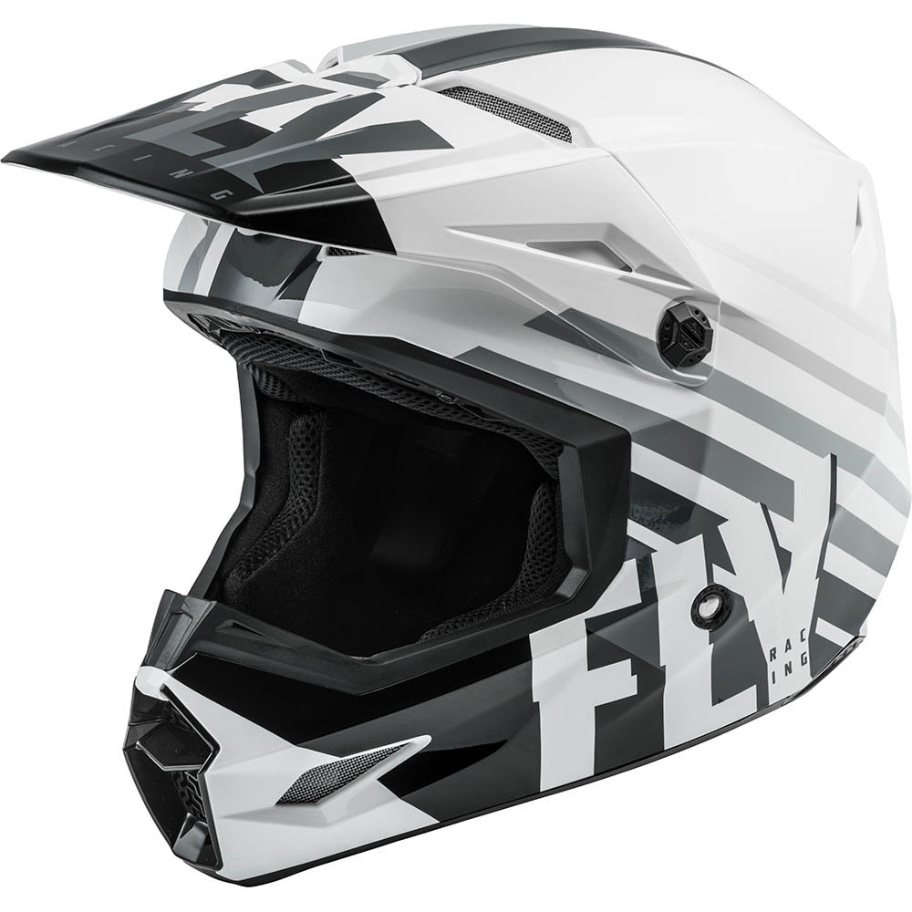 Fly Racing 2021 Kinetic Thrive White/Black/Grey шлем внедорожный