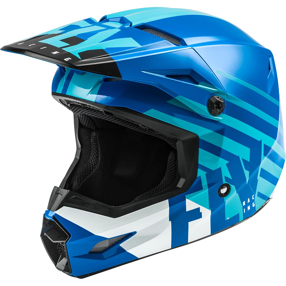 Fly Racing 2021 Kinetic Thrive Blue/White шлем внедорожный
