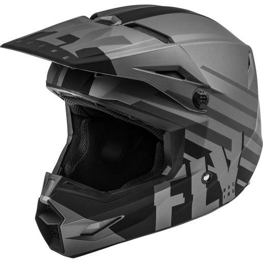 Fly Racing 2021 Kinetic Thrive Matte Dark Grey/Black шлем внедорожный