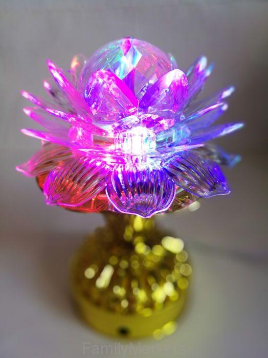 Декоративный LED-светильник на подставке Лотос, 17 см