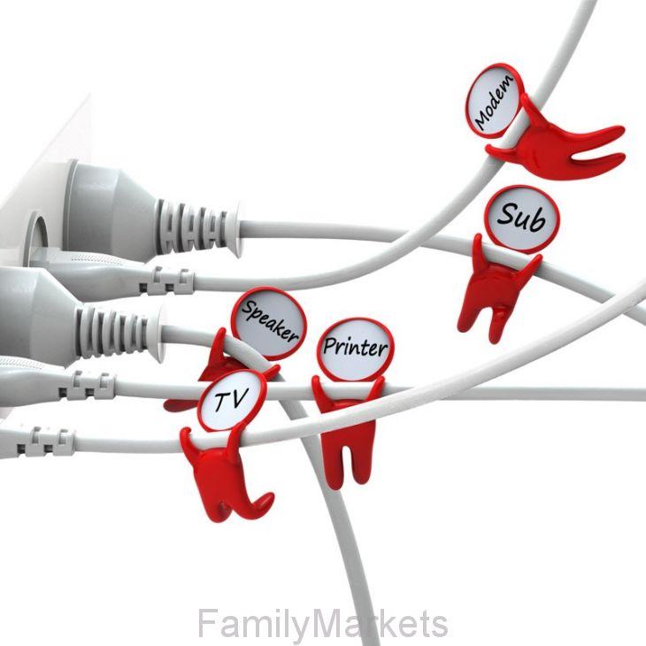 Держатели-маркеры для проводов Label your cable, 3 шт
