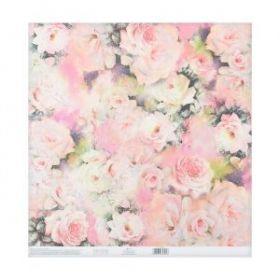 Бумага этиклейки с клеевым слоем «Цветочный вальс», 30,5 × 32 см, 250 г/м