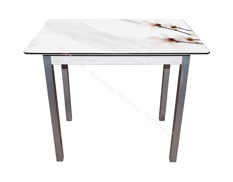 """Стол """"Магнолии на мраморе 1"""" 900"""
