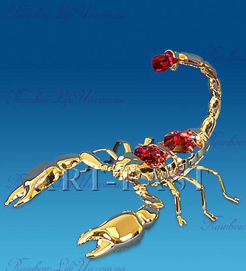 """Статуэтка скорпион с камнями """"Swarovski"""""""