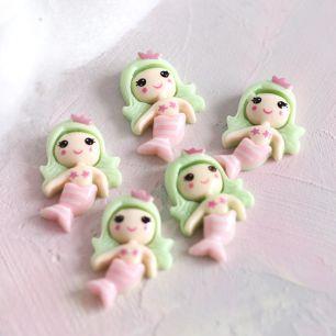 Кукольная миниатюра - Кабошон русалочка, 2 см
