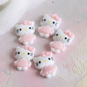 Кукольная миниатюра - Кабошон Hello Kitty, 2 см