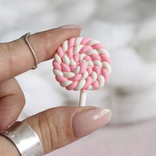 Леденец на палочке,  светло-розовый 3.5 см