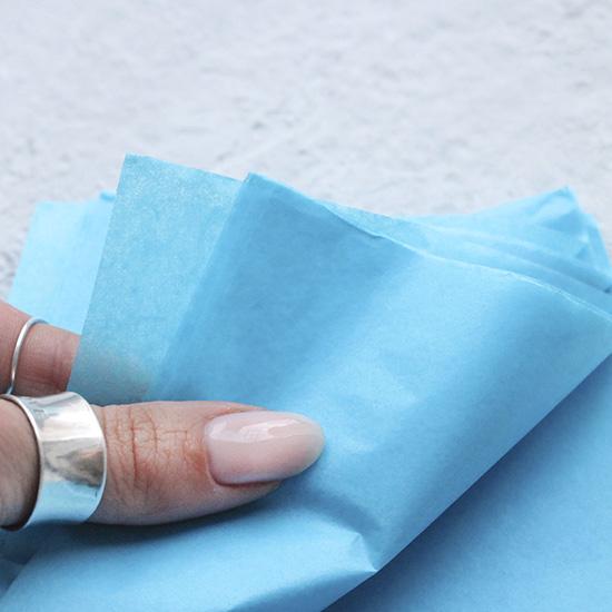 Бумага тишью голубая