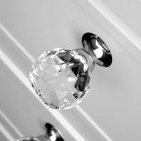 Мебельная ручку Glass Design Geo Pull. хром полированный/прозрачный кристалл