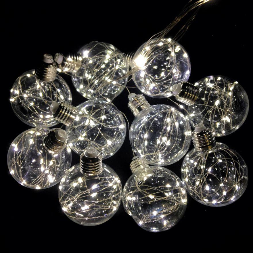 Светодиодная гирлянда Ретро-лампы, 3 м(Цвет: Белый тёплый)